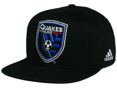 San Jose Earthquakes adidas MLS XL Basic Snapback Cap