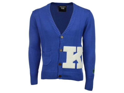 Kentucky Wildcats NCAA Men's Cardigan Elbow Patch Sweater