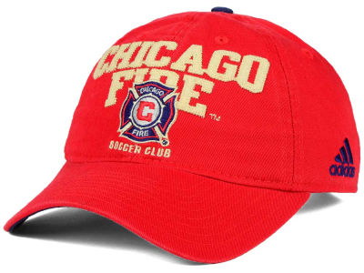Chicago Fire adidas MLS Performance Slouch Adjustable Cap