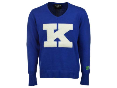 Kentucky Wildcats NCAA Mens V-neck Elbow Patch Sweater