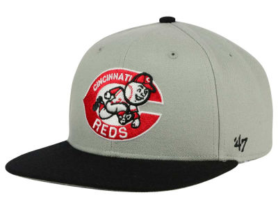 Cincinnati Reds '47 MLB '47 Gray Sure Shot Snapback Cap
