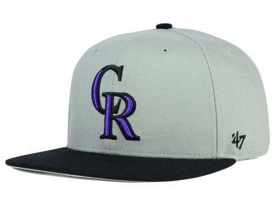Colorado Rockies '47 MLB '47 Gray Sure Shot Snapback Cap