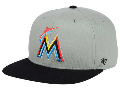 Miami Marlins '47 MLB '47 Gray Sure Shot Snapback Cap