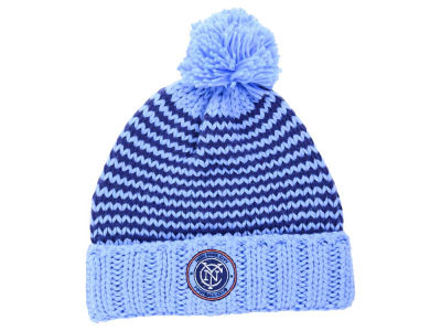New York City FC adidas MLB Women's Jacguard Pom Knit