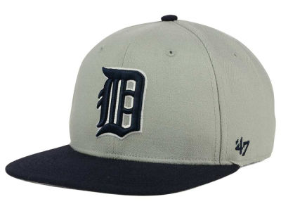 Detroit Tigers '47 MLB '47 Gray Sure Shot Snapback Cap