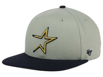 Houston Astros '47 MLB '47 Gray Sure Shot Snapback Cap