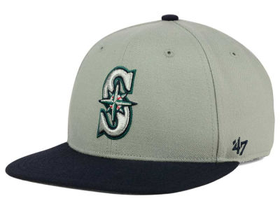Seattle Mariners '47 MLB '47 Gray Sure Shot Snapback Cap