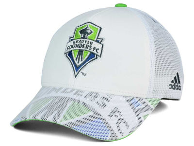 Seattle Sounders FC adidas MLS Goalie Vize Adjustable Cap