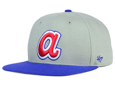 Atlanta Braves '47 MLB '47 Gray Sure Shot Snapback Cap