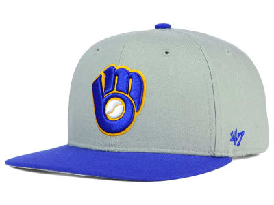 Milwaukee Brewers '47 MLB '47 Gray Sure Shot Snapback Cap
