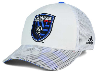 San Jose Earthquakes adidas MLS Goalie Vize Adjustable Cap