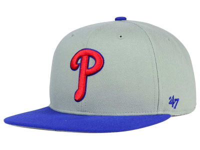 Philadelphia Phillies '47 MLB '47 Gray Sure Shot Snapback Cap