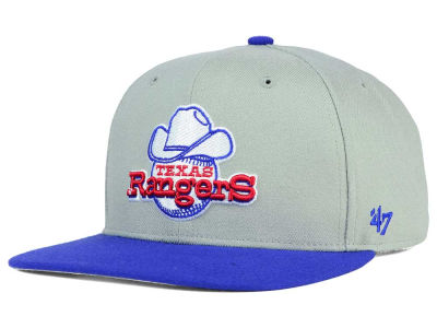 Texas Rangers '47 MLB '47 Gray Sure Shot Snapback Cap