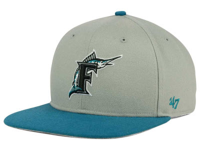 Florida Marlins '47 MLB '47 Gray Sure Shot Snapback Cap