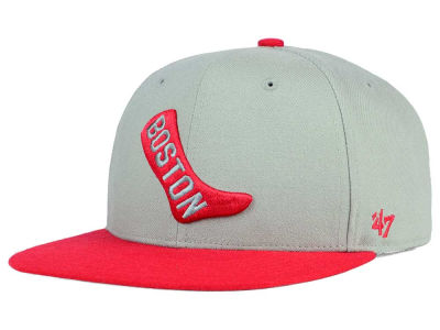 Boston Red Sox '47 MLB '47 Gray Sure Shot Snapback Cap