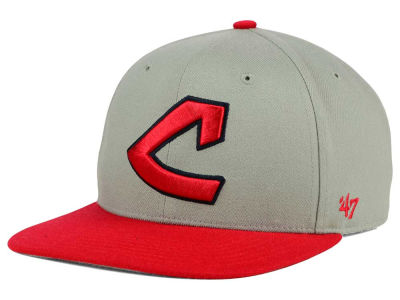Cleveland Indians '47 MLB '47 Gray Sure Shot Snapback Cap