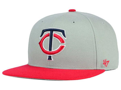 Minnesota Twins '47 MLB '47 Gray Sure Shot Snapback Cap