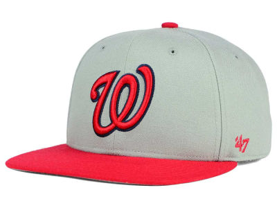 Washington Nationals '47 MLB '47 Gray Sure Shot Snapback Cap