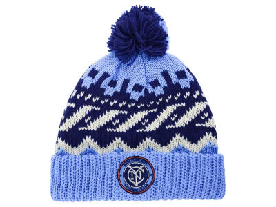 New York City FC adidas MLS Sweater Pom Knit