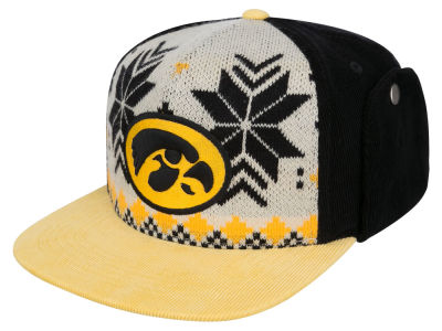 Iowa Hawkeyes Top of the World NCAA Ugly Sweater Strapback Cap
