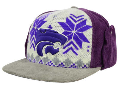 Kansas State Wildcats Top of the World NCAA Ugly Sweater Strapback Cap
