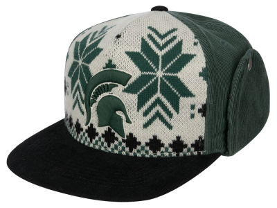 Michigan State Spartans Top of the World NCAA Ugly Sweater Strapback Cap