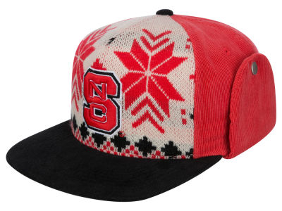 North Carolina State Wolfpack Top of the World NCAA Ugly Sweater Strapback Cap