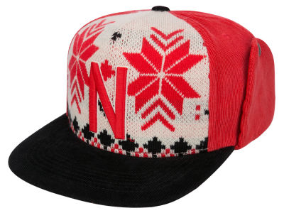 Nebraska Cornhuskers Top of the World NCAA Ugly Sweater Strapback Cap