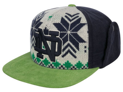 Notre Dame Fighting Irish Top of the World NCAA Ugly Sweater Strapback Cap