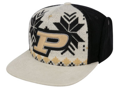 Purdue Boilermakers Top of the World NCAA Ugly Sweater Strapback Cap