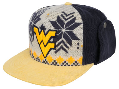 West Virginia Mountaineers Top of the World NCAA Ugly Sweater Strapback Cap