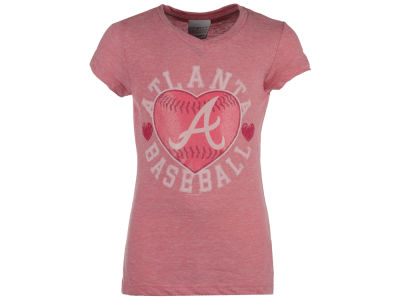Atlanta Braves 5th & Ocean MLB Girls Baseball Heart T-Shirt