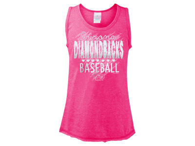 Arizona Diamondbacks 5th & Ocean MLB Girls Clear Glitter Tank