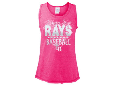Tampa Bay Rays 5th & Ocean MLB Girls Clear Glitter Tank
