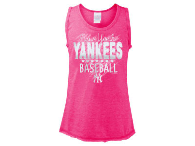 New York Yankees 5th & Ocean MLB Girls Clear Glitter Tank
