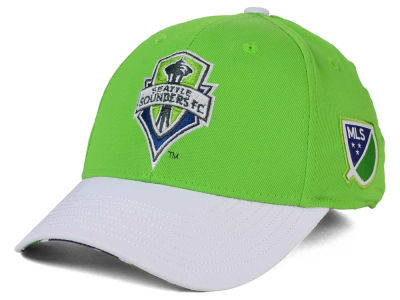Seattle Sounders FC adidas MLS Authentic Logo Under Flex Cap