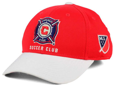 Chicago Fire adidas MLS Authentic Logo Under Flex Cap