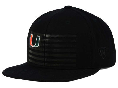 Miami Hurricanes Top of the World NCAA Saluter Snapback Hat
