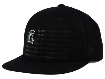 Michigan State Spartans Top of the World NCAA Saluter Snapback Hat