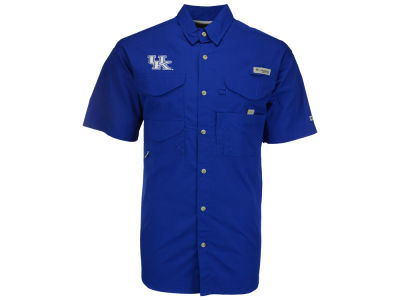 Kentucky Wildcats Columbia NCAA Mens Bonehead Big and Tall Short Sleeve Shirt