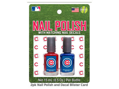 Chicago Cubs 2-pack Nail Polish w/ Decals
