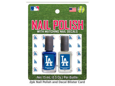 Los Angeles Dodgers 2-pack Nail Polish w/ Decals