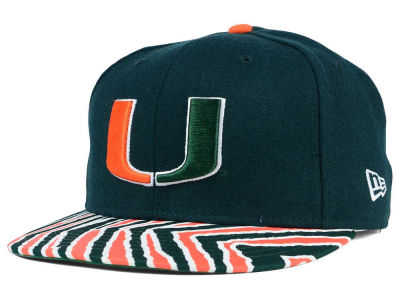 Miami Hurricanes New Era NCAA City Pack Stripe 9FIFTY Snapback Cap