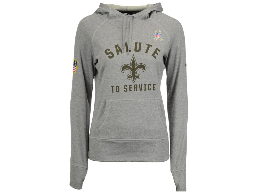 New Orleans Saints Nike NFL Women s Salute to Service Hoodie  c5a9a9a7f