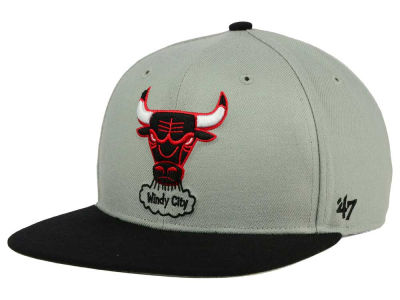 Chicago Bulls '47 NBA HWC '47 Gray Sure Shot Snapback Cap