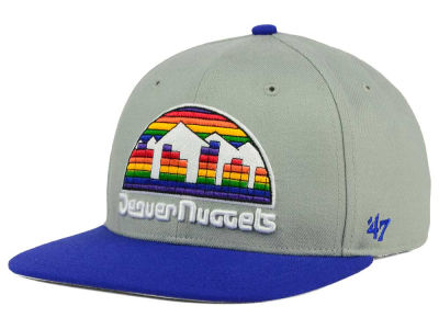Denver Nuggets '47 NBA HWC '47 Gray Sure Shot Snapback Cap