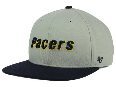 Indiana Pacers '47 NBA HWC '47 Gray Sure Shot Snapback Cap