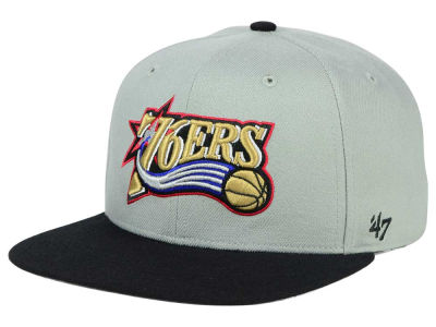 Philadelphia 76ers '47 NBA HWC '47 Gray Sure Shot Snapback Cap