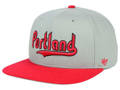 Portland Trail Blazers '47 NBA HWC '47 Gray Sure Shot Snapback Cap