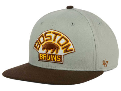 Boston Bruins '47 NHL '47 Gray Sure Shot Snapback Cap